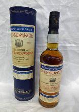 Lot 4116 - 1 BOTTLE GLENMORANGIE BURGUNDY WOOD FINISH SINGLE MALT WHISKY - 70CL,