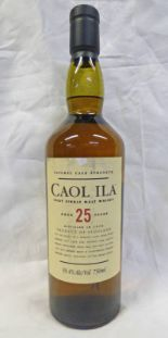 Lot 4011 - 1 BOTTLE CAOL ILA 25 YEAR OLD SINGLE MALT WHISKY, DISTILLED 1978, 58.