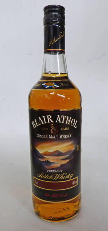 Lot 4010 - 1 BOTTLE BLAIR ATHOL 8 YEAR OLD SINGLE MALT WHISKY, 75CL, 40% VOLUME.