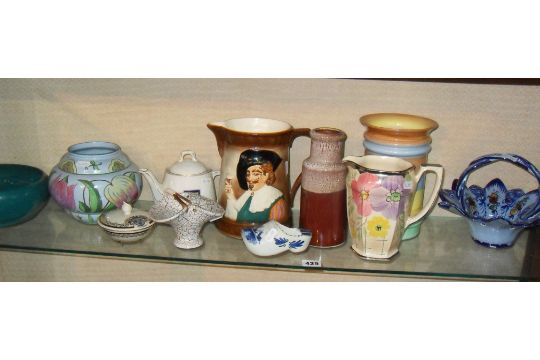 Falcon Ware Ale Jug Arthur Wood Jug And Other Vases And China