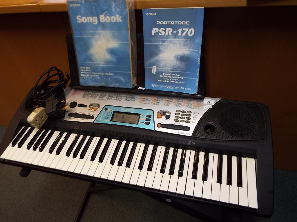 a yamaha psr 170 keyboard with portable stand owners manual song rh the saleroom com yamaha psr 170 keyboard manual yamaha psr 170 keyboard manual