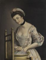 Lot 114 - Henry Robert Morland - Portrait of a Woman washing Clothes, possibly Maria Countess of Coventry,