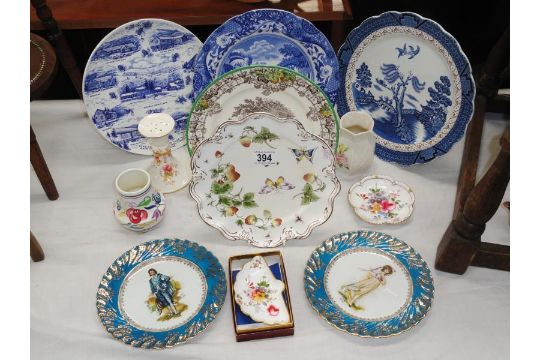 A Mixed Lot Of China Including Royal Crown Derby Belleek Vase