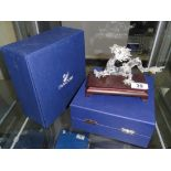 A Swarovski crystal figure of a dragon from the crystal zodiac series with box.