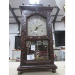 A mantel clock with battery movement.