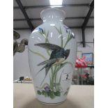 A Franklin Porcelain 'The Meadowland Birds' vase.