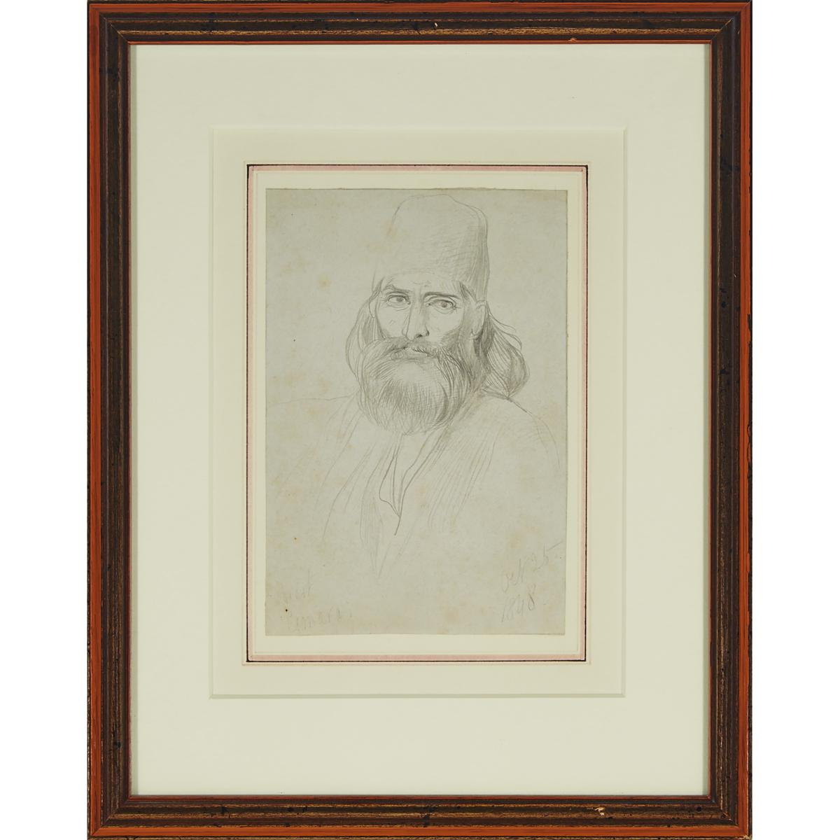 Collector's Group of Three Drawings, Sheet 8.25 x 6.5 in — 21 x 16.5 cm; 5.5 x 8.5 in — 14 x 21.6 cm - Image 8 of 9