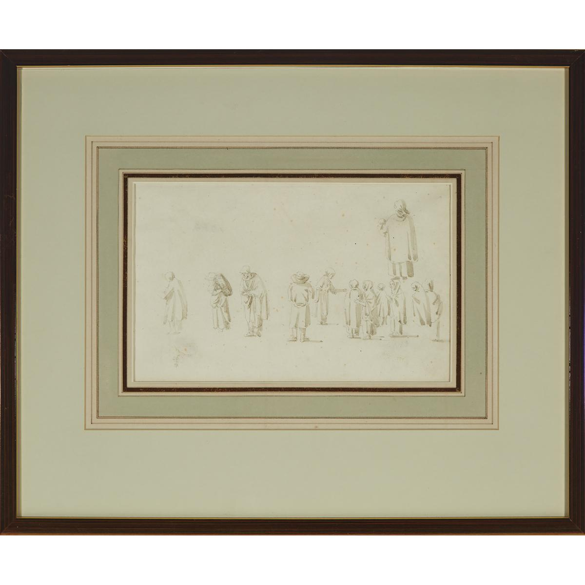 Collector's Group of Three Drawings, Sheet 8.25 x 6.5 in — 21 x 16.5 cm; 5.5 x 8.5 in — 14 x 21.6 cm - Image 5 of 9