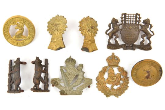 9 Imperial Yeomanry Collar Badges Westminster D Pair Warwickshire Lovat Scouts Voided And Non