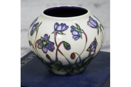 A Moorcroft Pottery Vase Height 11cm Condition Good No Damage