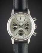 "A GENTLEMAN'S STAINLESS STEEL BREITLING ""LONG PLAYING"" CHRONOGRAPH WRIST WATCH CIRCA 1974, REF."