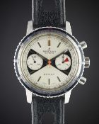 A GENTLEMAN'S STAINLESS STEEL BREITLING SPRINT CHRONOGRAPH WRIST WATCH CIRCA 1969, REF. 2010 WITH ""