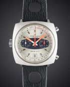 A GENTLEMAN'S STAINLESS STEEL BREITLING CHRONO-MATIC CHRONOGRAPH WRIST WATCH CIRCA 1969, REF. 2111