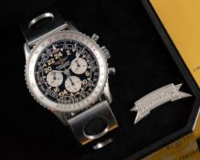 "A GENTLEMAN'S STAINLESS STEEL BREITLING COSMONAUTE ""SERIE SPECIALE"" CHRONOGRAPH BRACELET WATCH DATED"