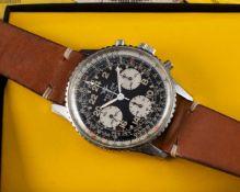A RARE GENTLEMAN'S STAINLESS STEEL BREITLING COSMONAUTE CHRONOGRAPH WRIST WATCH CIRCA 1969, REF. 809