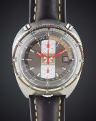 "A GENTLEMAN'S STAINLESS STEEL BREITLING ""BULLHEAD"" CHRONO-MATIC CHRONOGRAPH WRIST WATCH CIRCA"