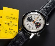 A GENTLEMAN'S STAINLESS STEEL BREITLING CHRONOMATIC CHRONOGRAPH WRIST WATCH DATED 1970, REF. 2110