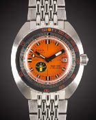 "A GENTLEMAN'S STAINLESS STEEL DOXA SUB 300 PROFESSIONAL ""BLACK LUNG"" AUTOMATIC DIVERS BRACELET WATCH"
