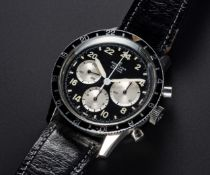 A VERY RARE GENTLEMAN'S STAINLESS STEEL BREITLING UNITIME 24 HOUR CHRONOGRAPH WRIST WATCH CIRCA