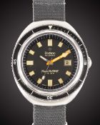 A GENTLEMAN'S STAINLESS STEEL ZODIAC SUPER SEA WOLF AUTOMATIC DIVERS WRIST WATCH CIRCA 1970, REF.