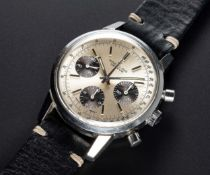 "A GENTLEMAN'S STAINLESS STEEL BREITLING ""LONG PLAYING"" CHRONOGRAPH WRIST WATCH CIRCA 1973, REF."