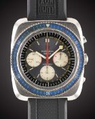 A GENTLEMAN'S STAINLESS STEEL FAVRE LEUBA SEA SKY CHRONOGRAPH WRIST WATCH CIRCA 1970, REF. 33043