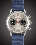 A GENTLEMAN'S STAINLESS STEEL BREITLING TOP TIME CHRONOGRAPH WRIST WATCH CIRCA 1970, REF. 2002-33