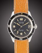 A GENTLEMAN'S STAINLESS STEEL BLANCPAIN AQUA LUNG 1000 FEET AUTOMATIC DIVERS WRIST WATCH CIRCA 1960s