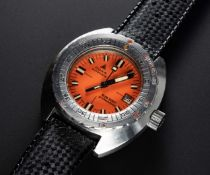"A RARE GENTLEMAN'S STAINLESS STEEL DOXA ""ORANGE"" SUB 300T PROFESSIONAL DIVERS WRIST WATCH CIRCA"
