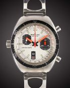 A GENTLEMAN'S STAINLESS STEEL BREITLING CHRONO-MATIC CHRONOGRAPH BRACELET WATCH CIRCA 1969, REF.