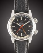 A GENTLEMAN'S STAINLESS STEEL ENICAR SHERPA JET GMT WRIST WATCH CIRCA 1968, REF. 148-35-02 Movement: