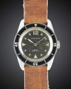 A GENTLEMAN'S STAINLESS STEEL BLANCPAIN BATHYSCAPHE DIVERS WRIST WATCH CIRCA 1960s Movement: 17J,