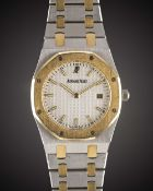 A MID SIZE STEEL & GOLD AUDEMARS PIGUET ROYAL OAK BRACELET WATCH DATED 2010, REF. 56175SA/O/0789SA/