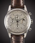 A GENTLEMAN'S STAINLESS STEEL BREITLING TRANSOCEAN 1461 PERPETUAL CALENDAR MOONPHASE CHRONOGRAPH