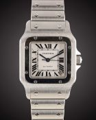 "A GENTLEMAN'S STAINLESS STEEL CARTIER SANTOS GALBEE ""XL"" AUTOMATIC BRACELET WATCH DATED 2012, REF."