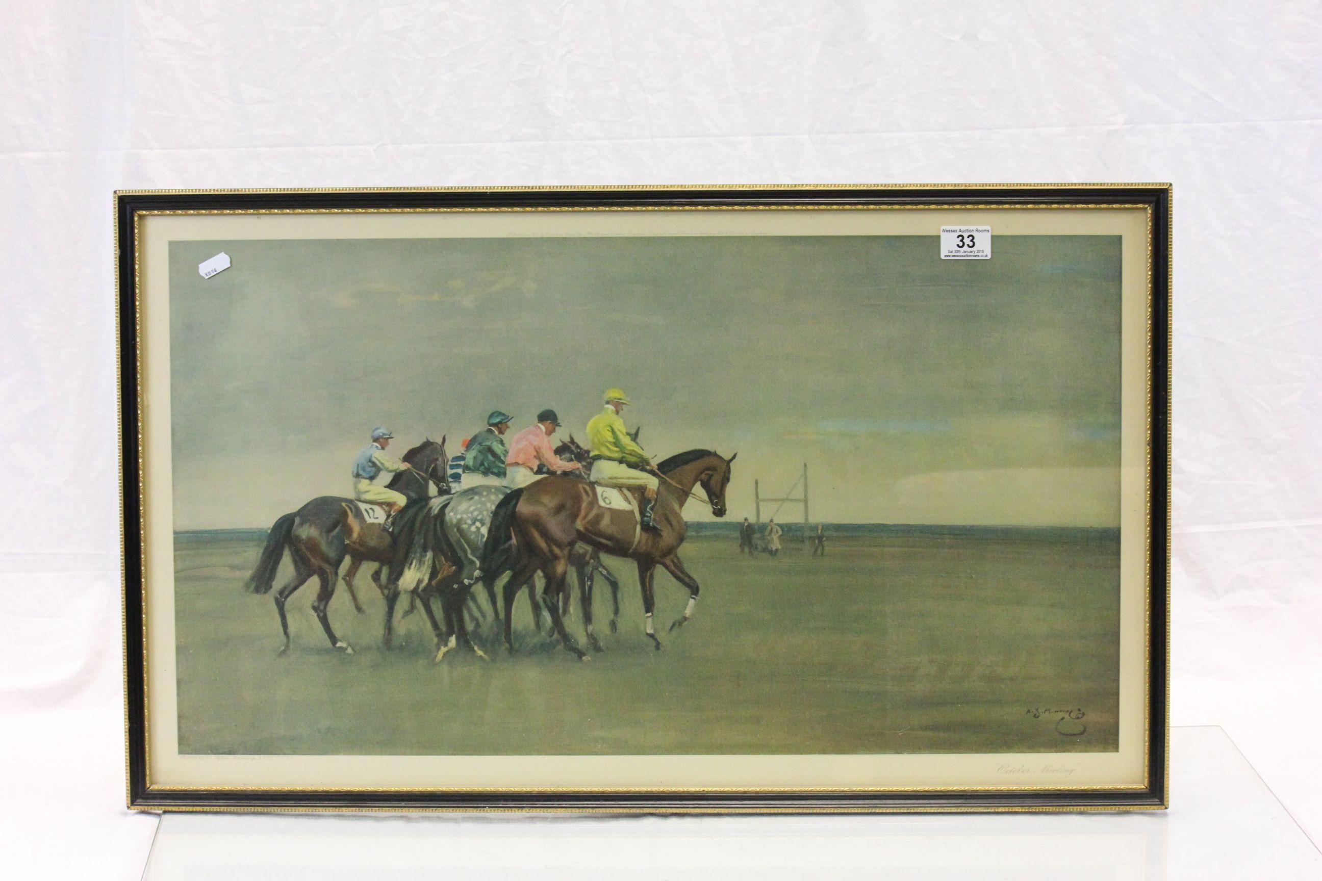 Lot 33 - Framed & glazed 1950's horse racing print