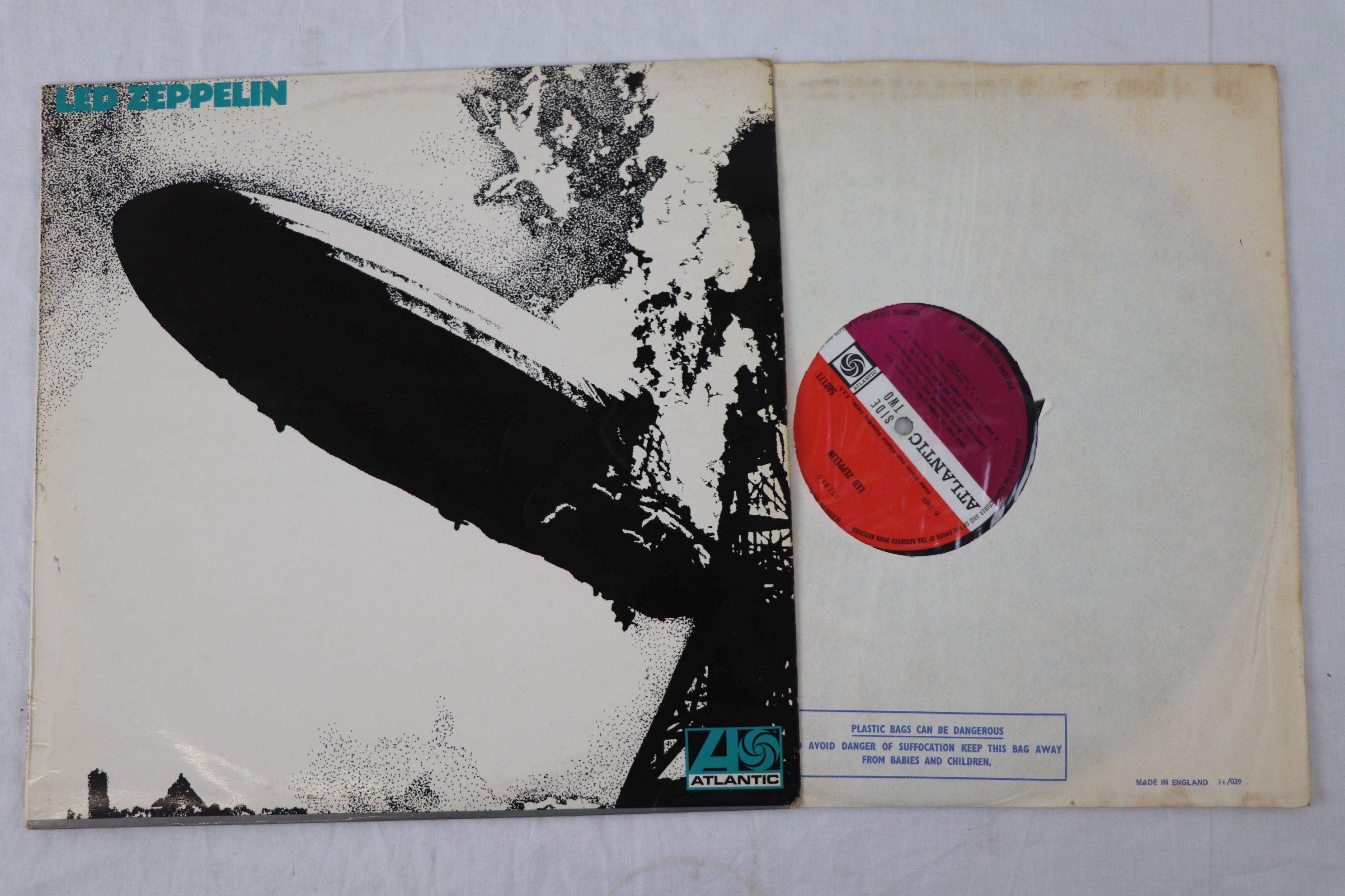 Lot 1 - Vinyl - Led Zeppelin One (Atlantic 588171) stereo, with plum label, turquoise sleeve lettering