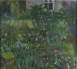 Lot 11 - Pat ALGAR (British 1939 - 2013)  'Chymorvah' - The Artist's Garden, Oil on board,  Signed,