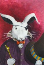 "Lot 366 - Susan MATHER (20th/21st Century) Mad March Hare, Bodycolour, Signed lower right, 15.75"" x 10.75"" ("