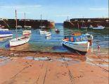 Lot 56 - Jeremy SANDERS (British b. 1969)'Mousehole Gap', Oil on board, Signed & titled verso, Signed