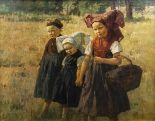 Lot 34 - Berthold Genzmer (Boggusch/Westpreußen 1858 - Königsberg 1927) Mädchen aus dem Spreewald Öl/Lw.,