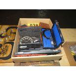 Box Lot Misc QC Instruments(Note Wood Cases Empty)