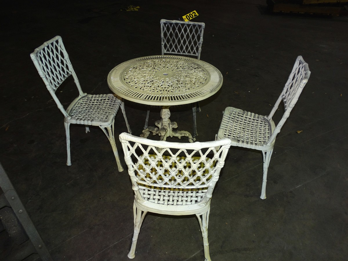Lot 2 - Antique Wrought Iron Patio Set