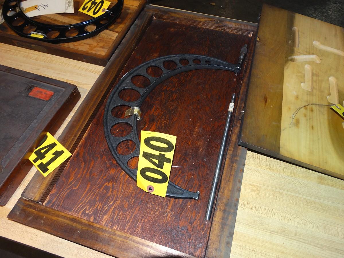 """Lot 40 - QC Starrett 12"""" Mic w/Standard in Wood Case"""