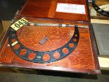 "Lot 43 - QC Starrett 16"" Mic w/Std in Wood Case"