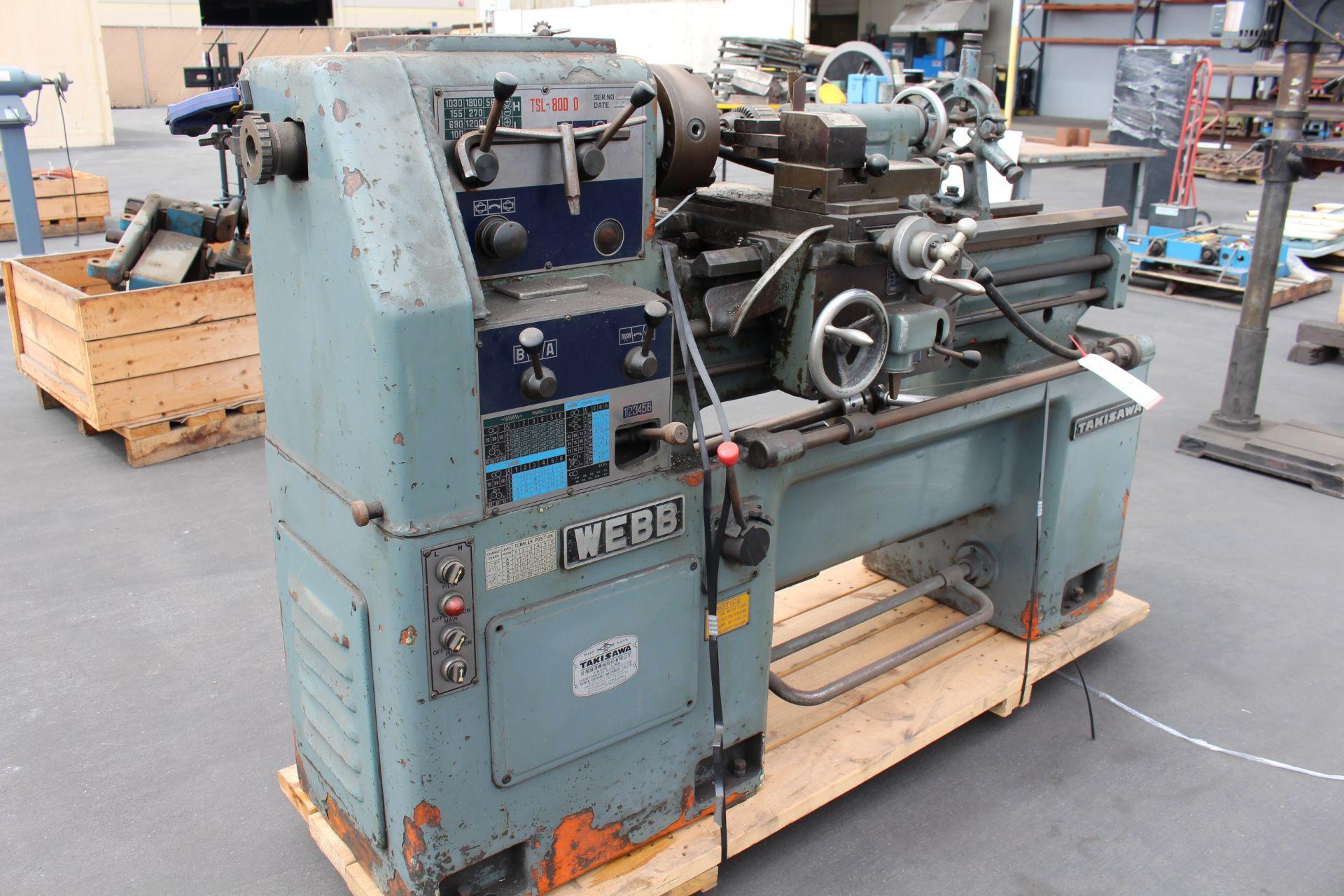 "WEBB TSL-800D LATHE, 55-1800 RPM, 6"" 3-JAW CHUCK, S/N BFE00039H - Image 3 of 3"