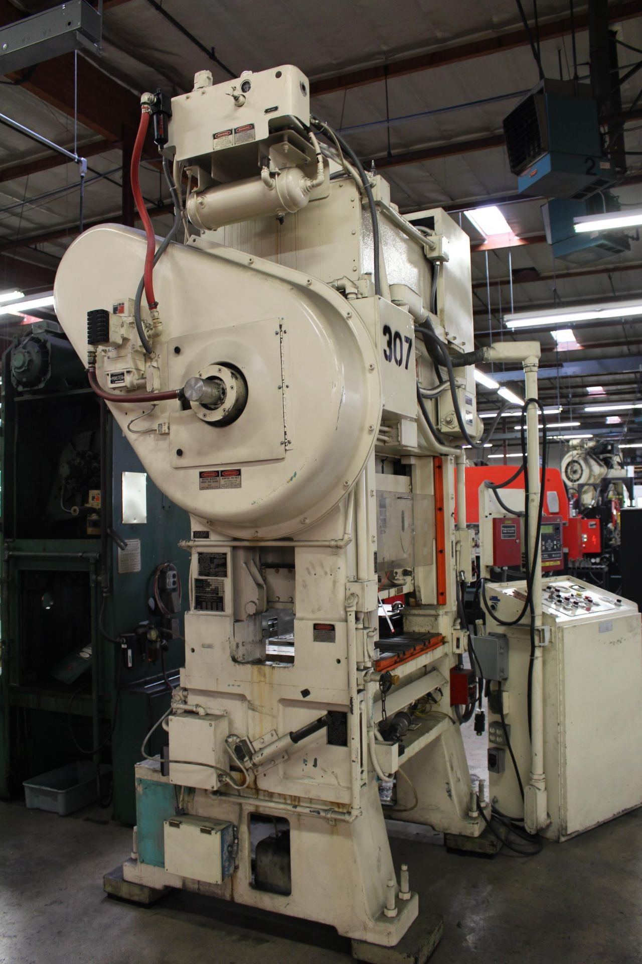 """MINSTER MODEL PM2-30-30 HIGH SPEED PUNCH PRESS, 30 TON CAPACITY, 30"""" X 20"""" BOLSTER, 0-1,000 SPM, 1- - Image 5 of 18"""