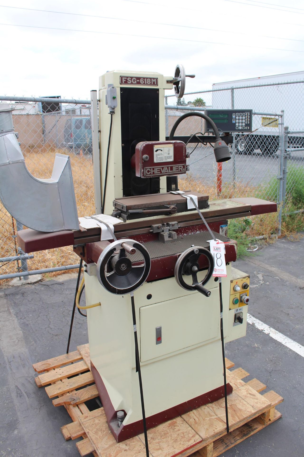"""CHEVALIER FSG-618M SURFACE GRINDER, 6"""" X 18"""" MAGNETIC CHUCK, ACU-RITE XY DRO, S/N A3837059 - Image 2 of 4"""