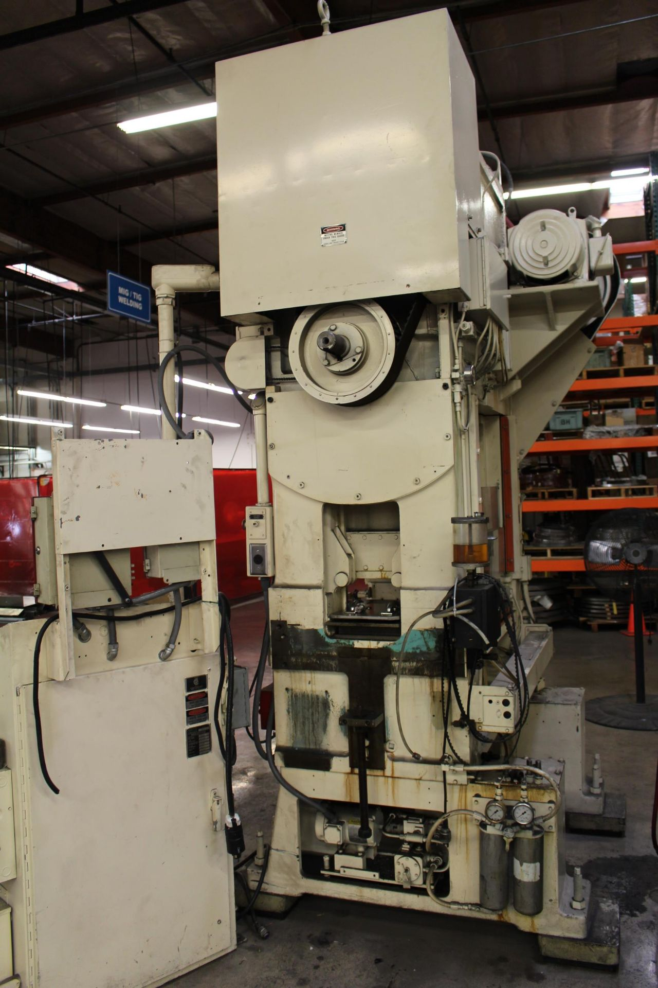 """MINSTER MODEL PM2-30-30 HIGH SPEED PUNCH PRESS, 30 TON CAPACITY, 30"""" X 20"""" BOLSTER, 0-1,000 SPM, 1- - Image 12 of 18"""