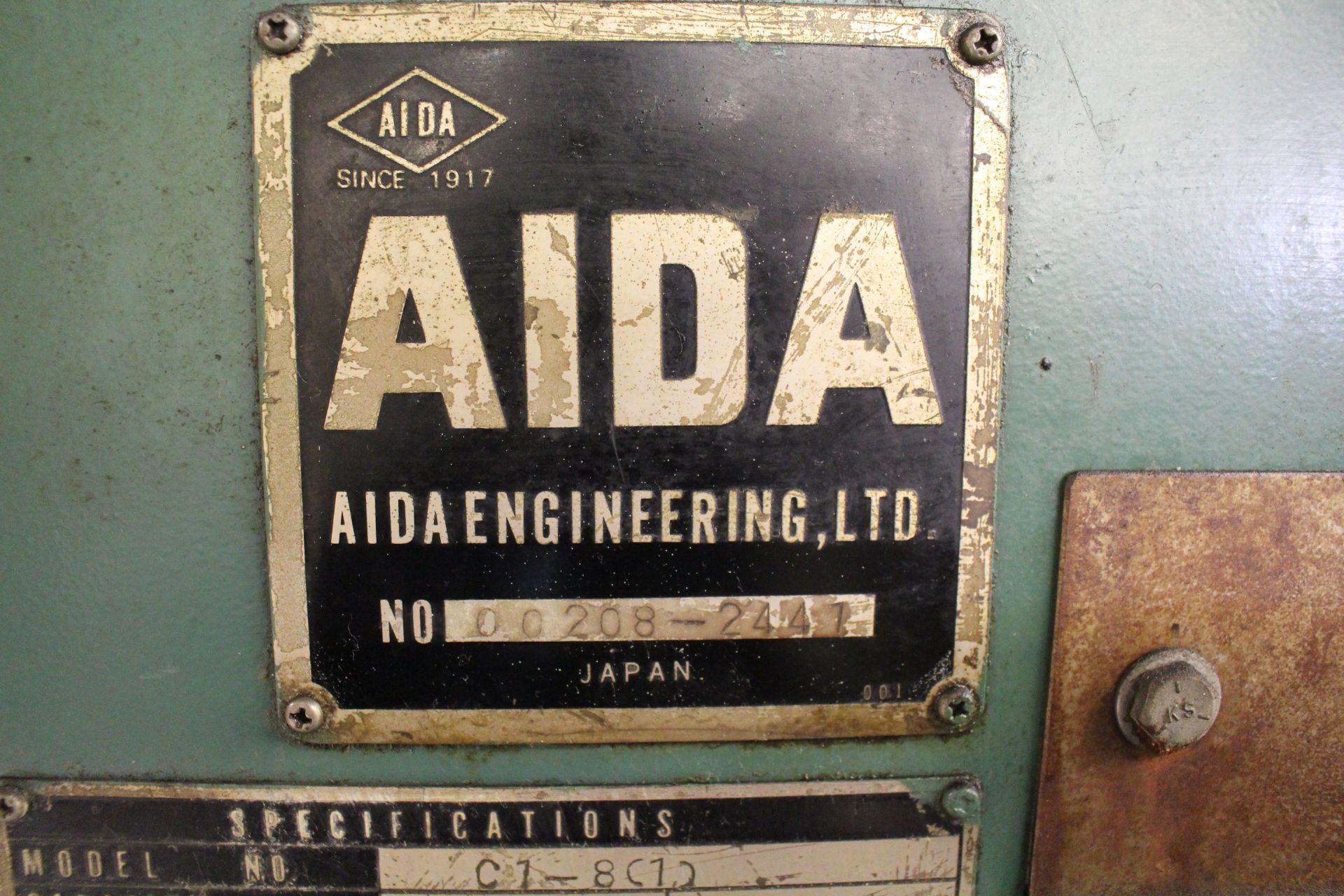 "AIDA MODEL CI-8(1) PUNCH PRESS, 80 TON CAPACITY, 40-155 SPM, 52.36"" X 23.62"" BOLSTER AREA, 21.26"" - Image 10 of 10"